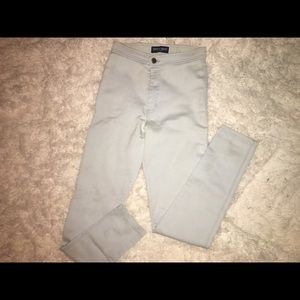 American Apparel high waisted jeans light blue